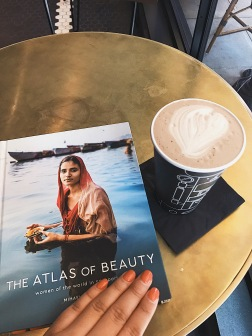 My hotel had the cutest coffee shop, and on my last morning there, I enjoyed some hot chocolate and read beautiful photo story.